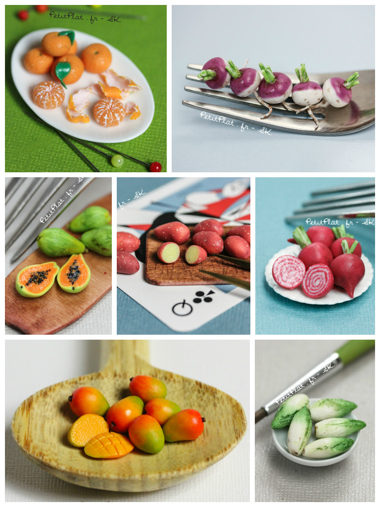 Week 3 of Daily Miniature Veggies and Fruits by PetitPlat
