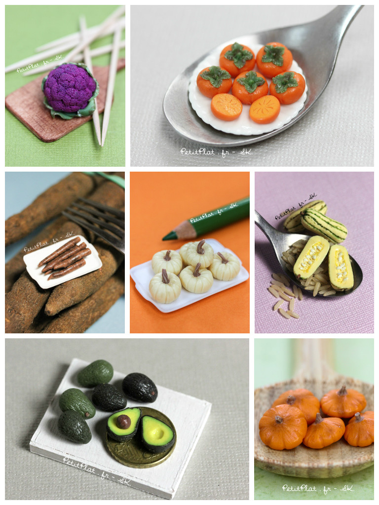 Week 4 Daily Miniature Veggies and Fruit by PetitPlat