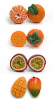 Miniature Fruit Studs by PetitPlat