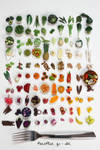 100 days of miniature fruit and vegetables