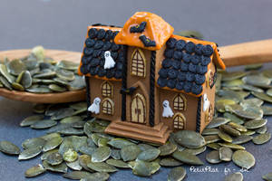 Miniature Haunted Gingerbread House
