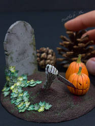 Zombies Want To Carve Pumpkins Too by PetitPlat