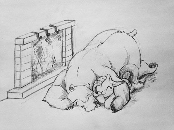 Sleepy Hearth by Zene