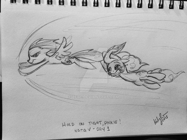 NATGV - DAY 1 - Hold on, Pinkie! by Zene