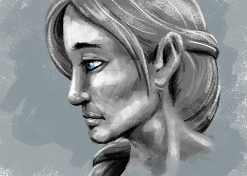 Lady in Gray by Zene