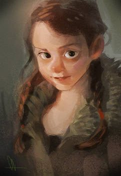 photo study - little girl
