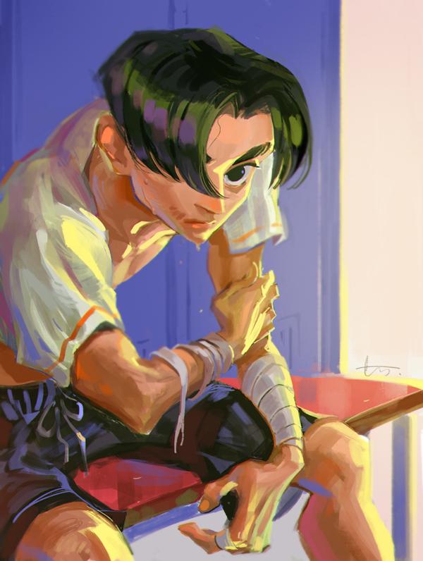 Boxing boy by huanGH64