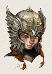 Girl in helmet by huanGH64