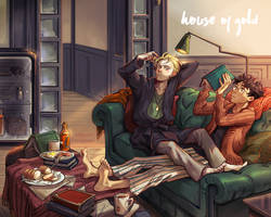 House of Gold drarry fanbook cover by huanGH64
