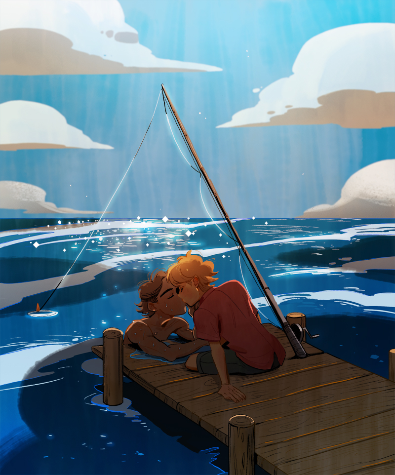 kiss by the ocean by huanGH64