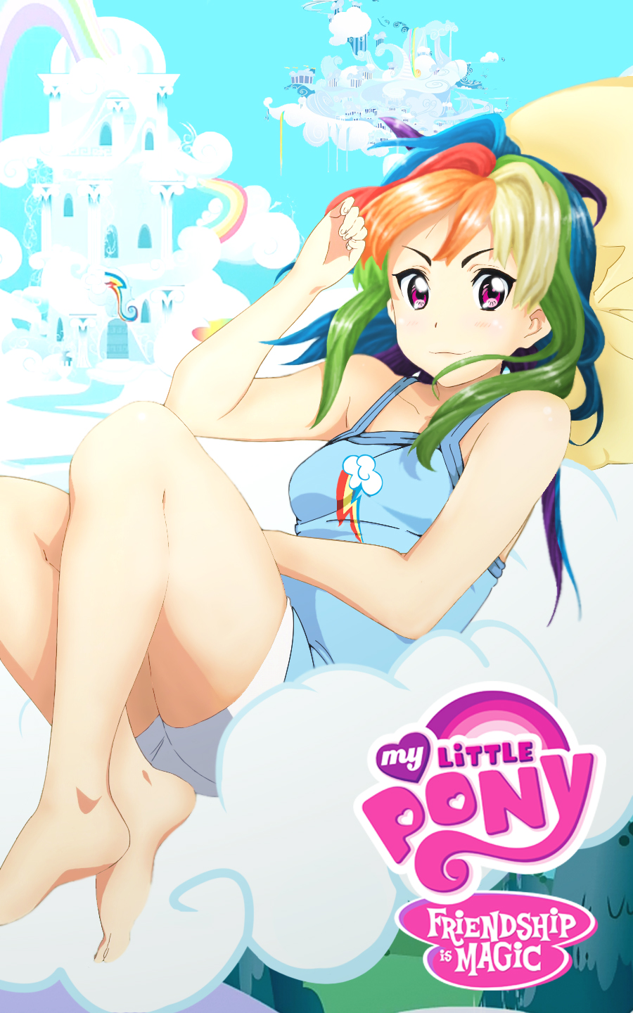 MLP: Rainbow Dash Anime version by Sazuko