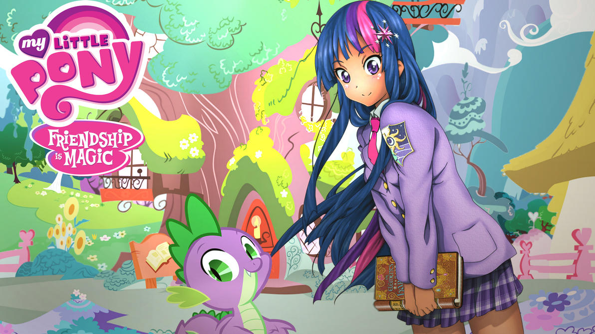 Anime Twilight Sparkle (Alternate Wall paper ver.) by Sazuko