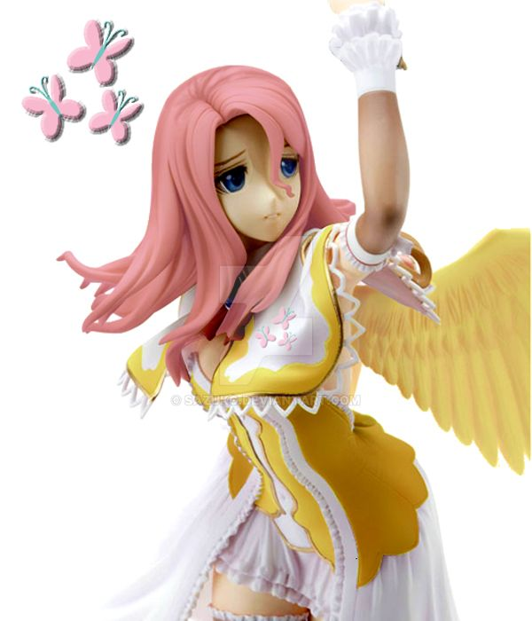 Fluttershy Anime version (Custom Figure Mod) by Sazuko