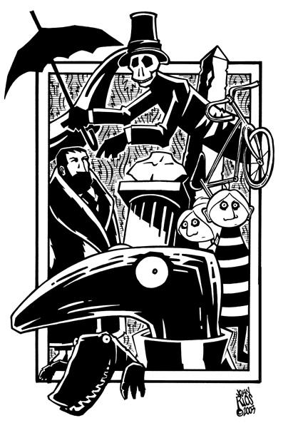 Tribute to Late Edward Gorey by deaddays
