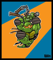 Michaelangelo Is a Party Dude by deaddays