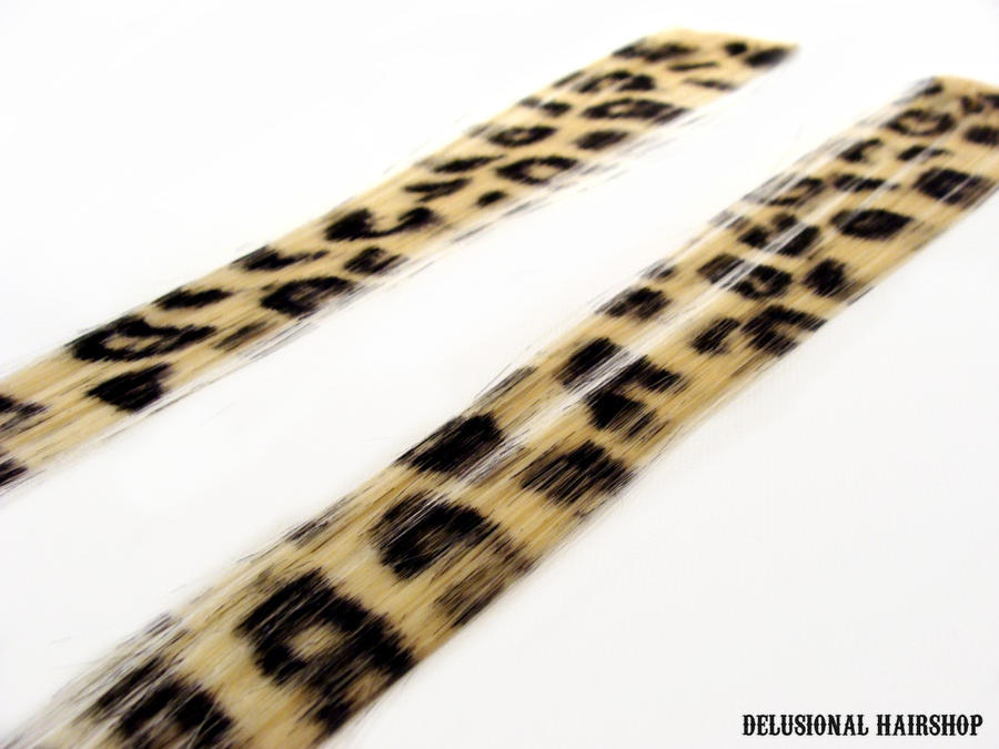 Pair Of Leopard Hair Extension By Schreixedxscreech On Deviantart
