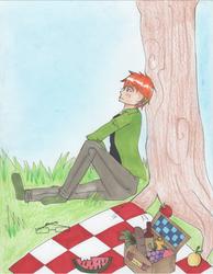 A picnic alone