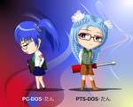 chibi PCDOS-tan and PTSDOS-tan