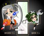 chibi DR-DOS-tan and QDOS-tan
