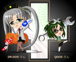 chibi DR-DOS-tan and QDOS-tan