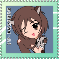 OS-tan Stamp - Momonga Linux by C-quel