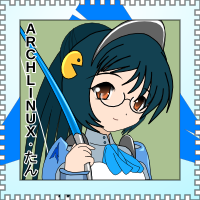 OS-tan Stamp - Arch Linux by C-quel
