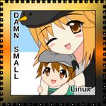 OS-tan Stamp - DamnSmall Linux