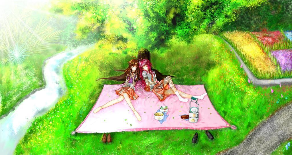 OP Garden Scene - Final by C-quel on DeviantArt