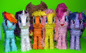 Mane6 Paper Plushies -- Houston, we have cuteness! by C-quel