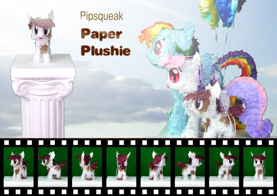 Pipsqueak Paper Plushie by C-quel