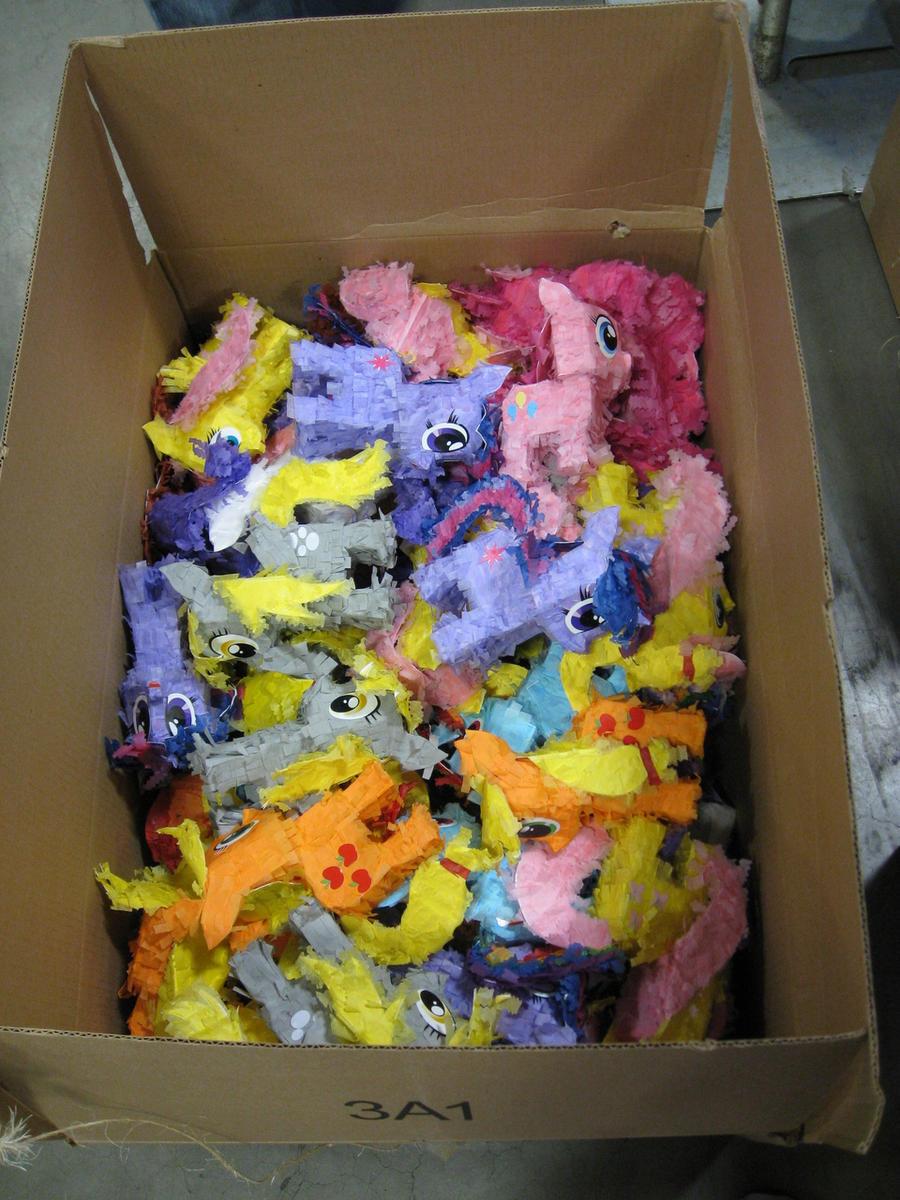 Box O' Petite Paper Plushie Ponies by C-quel