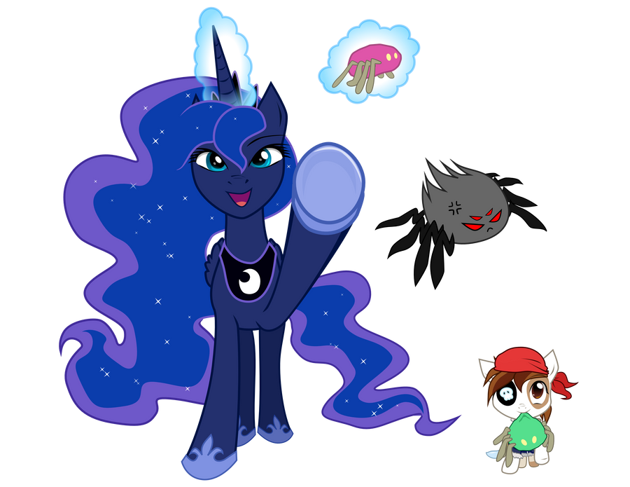 Princess Luna and Pipsqueak Spider Toss Graphics by C-quel