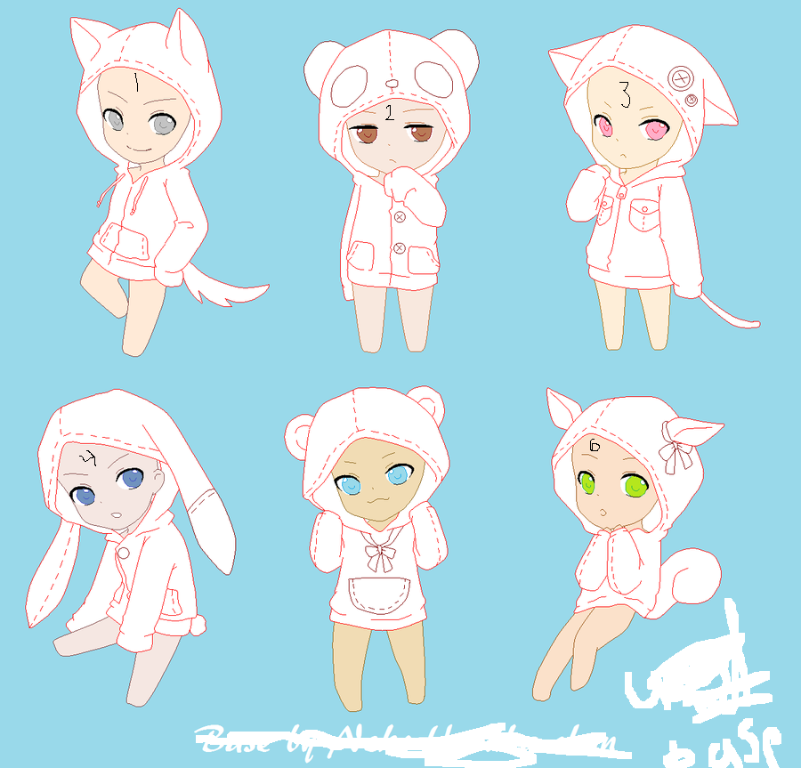 Chibi Hoodie Base By Nekoharuka Chan-d4gnmcn by ...