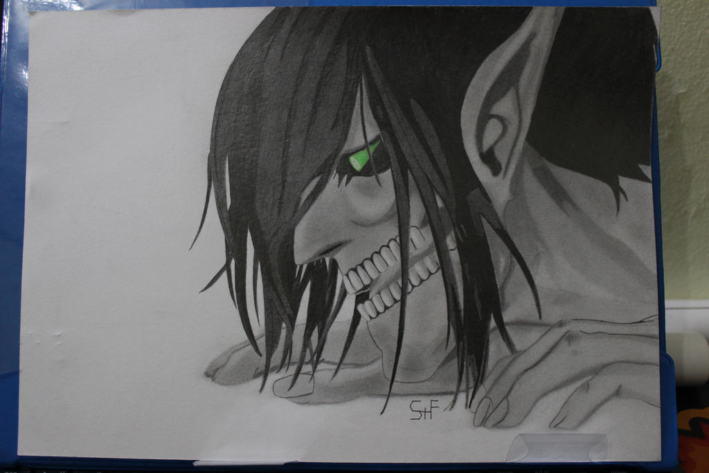Go Back  gt  Pix For  gt  Attack On Titan Eren Titan Form DrawingEren Jaeger Drawing