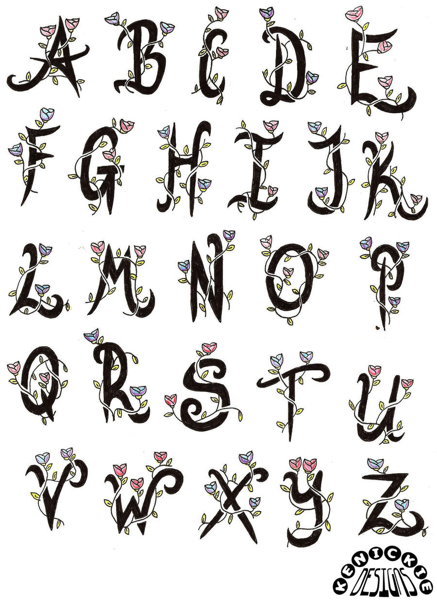 tattoo flash alphabet by kenickie1984 on deviantart. Black Bedroom Furniture Sets. Home Design Ideas