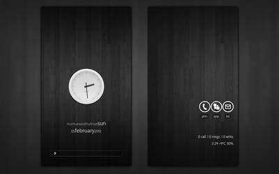 Minimalistic and clean HTC Sensation Homescreen by 7andT