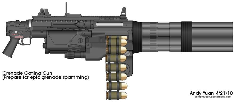 Grenade Gatling Gun by c-force