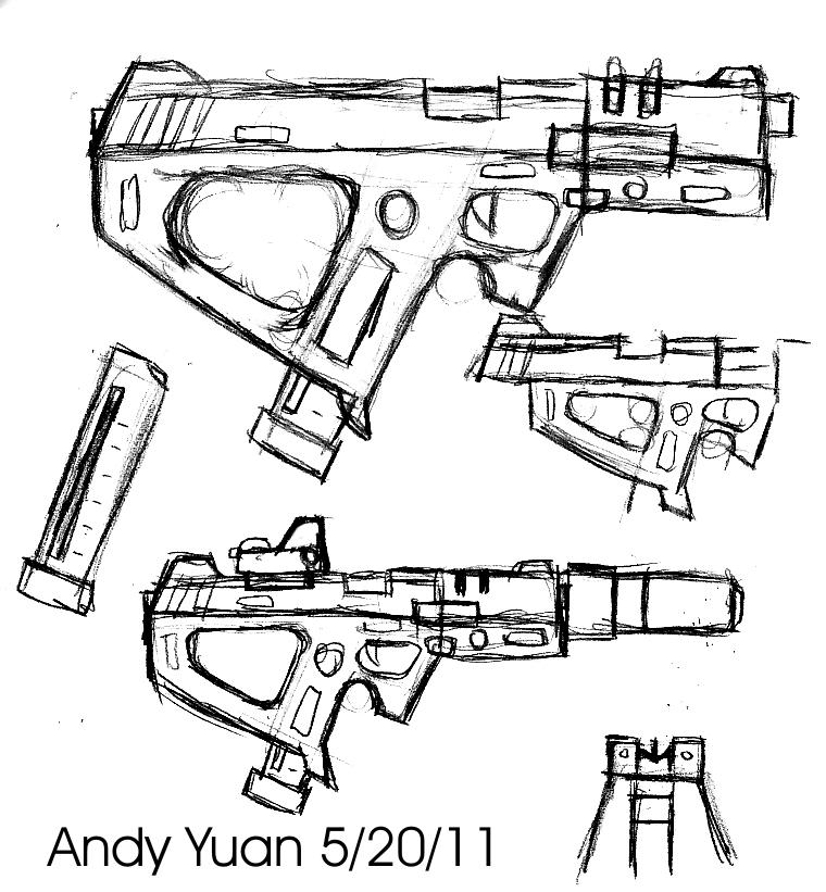Machine Pistol Design by c-force