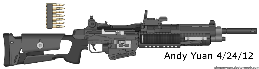 Semi-Auto Rifle design 2 by c-force