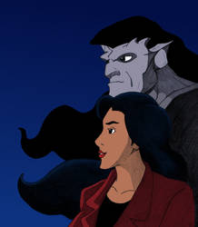 Gargoyles: Goliath and Elisa