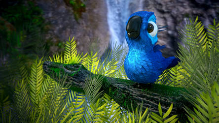 Cute Baby Bird inspired by the movie Rio