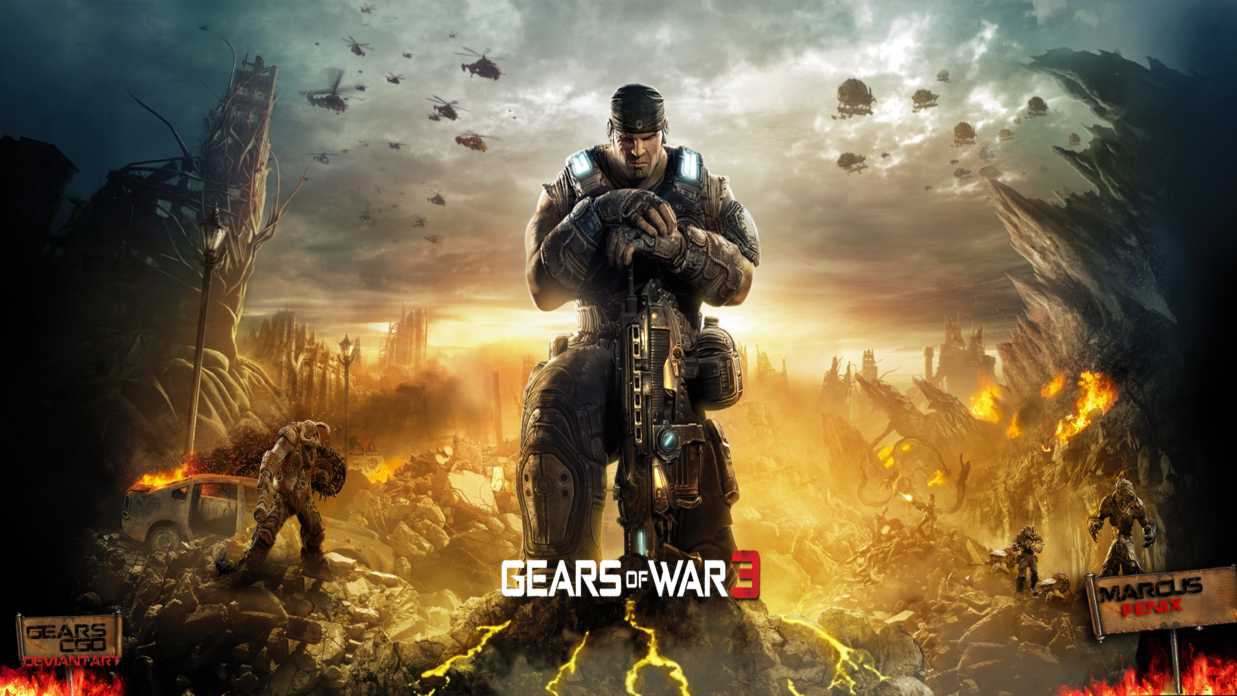 Gears Of War 3 Wallpapers: Wallpaper By GearsCgo On DeviantArt