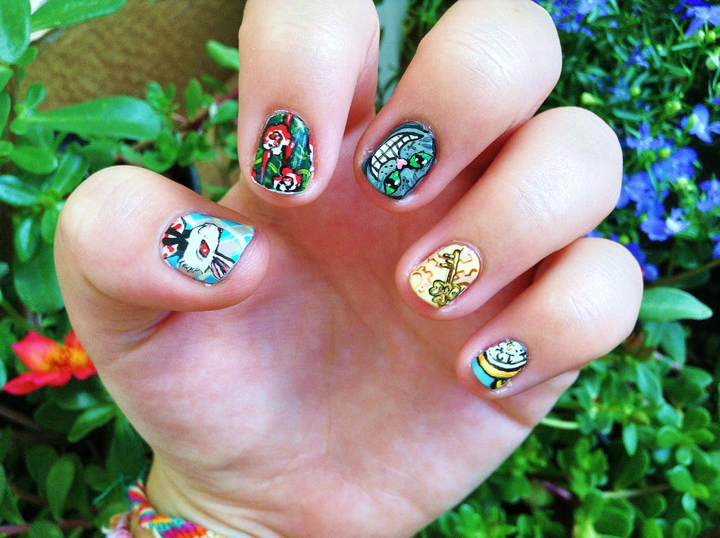 Alice in Wonderland nail art ii by NGC7424 on DeviantArt