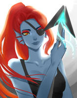 Undyne the Undying by VIOLOXE