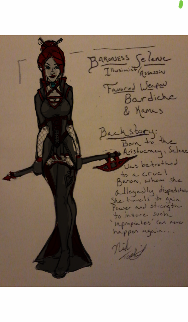 Baroness Selene Concept by NickT