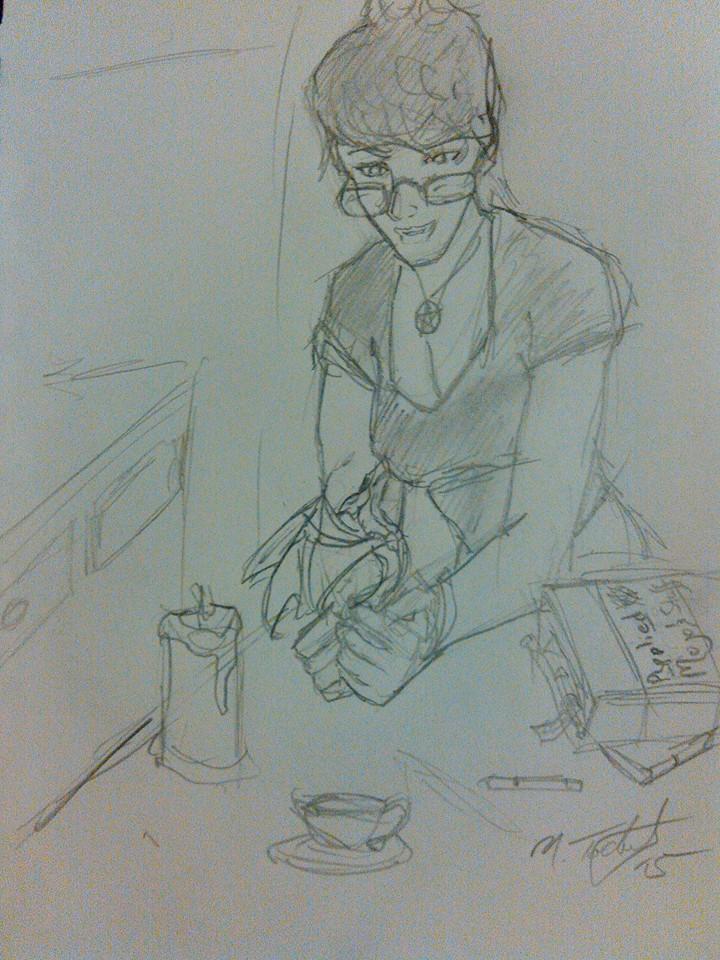 Practioner sketch - 9-12-15 by NickT