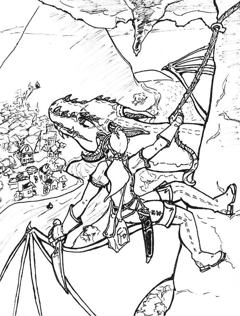 To Slay a Dragon B-W by NickT