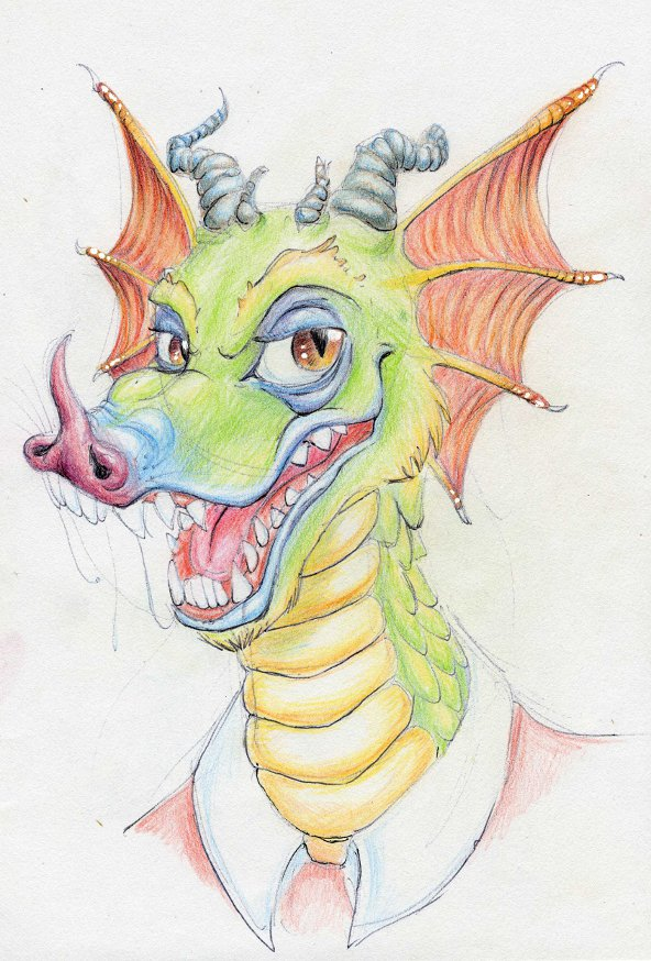 Sleaze dragon by metalik-fairy