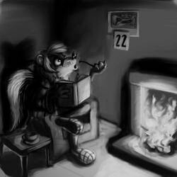 Skunk by the fire