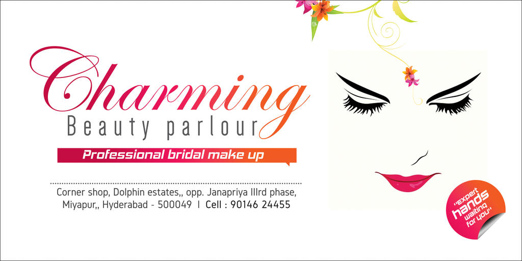 Charming Beauty Parlour Sign Board By Srinumdh